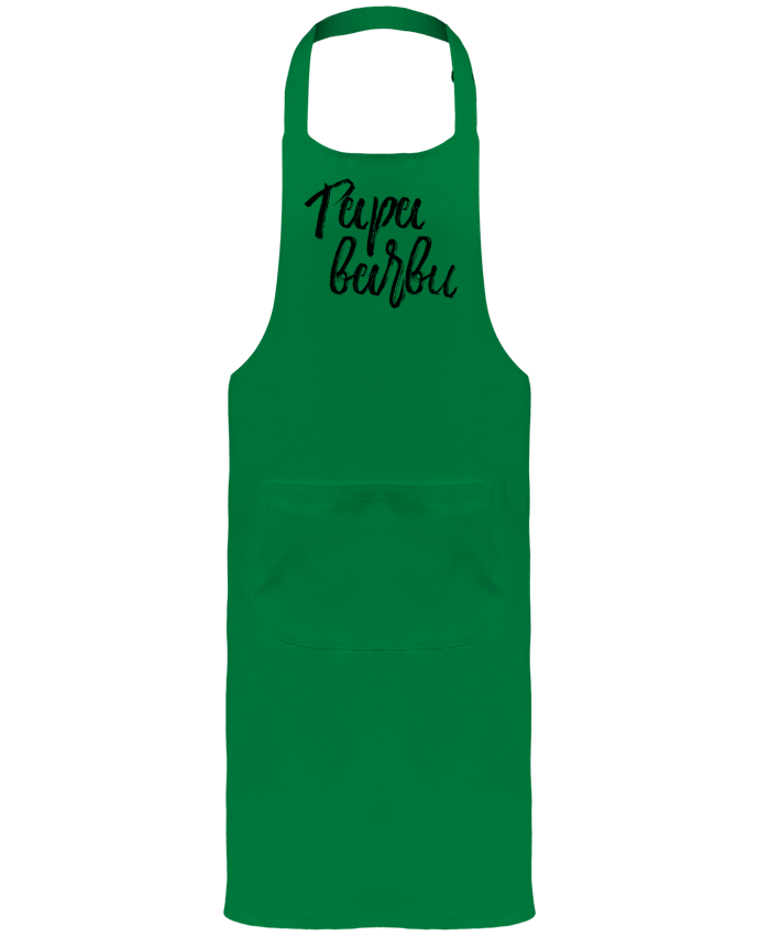 Garden or Sommelier Apron with Pocket Papa barbu by tunetoo