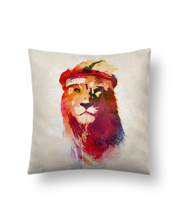Cushion suede touch 45 x 45 cm Gym lion by robertfarkas