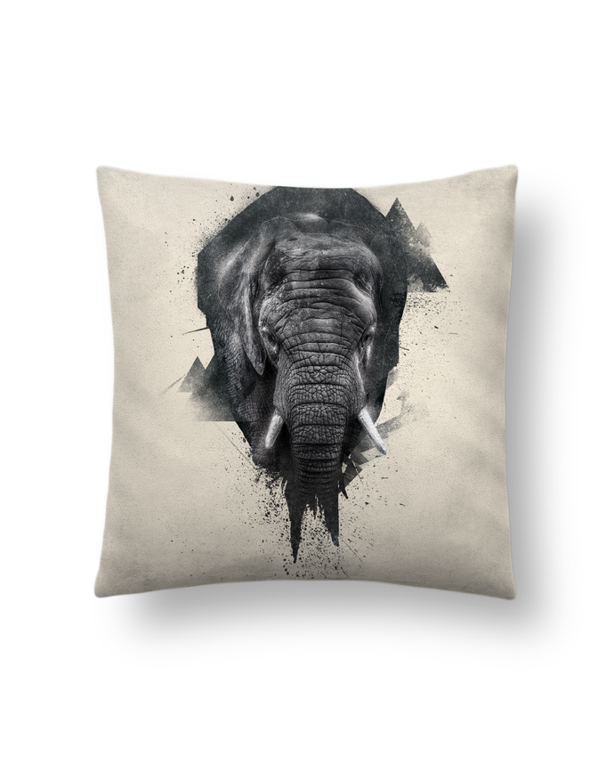 Cushion suede touch 45 x 45 cm elephant footprint by WZKdesign