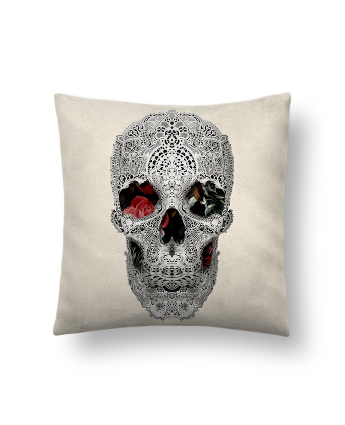 Cushion suede touch 45 x 45 cm Lace skull 2 light by ali_gulec
