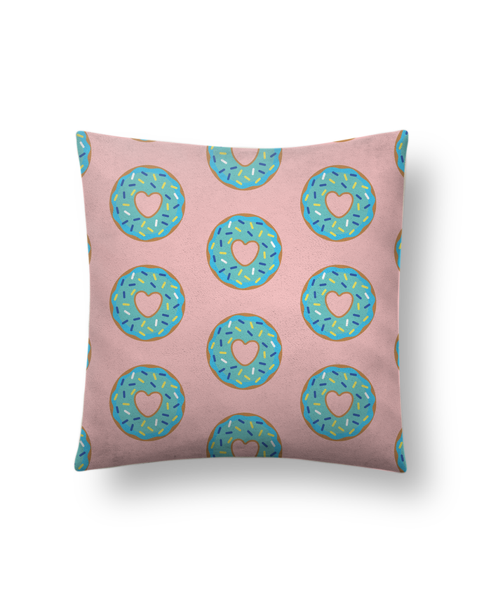 Cushion suede touch 45 x 45 cm Donut coeur by tunetoo