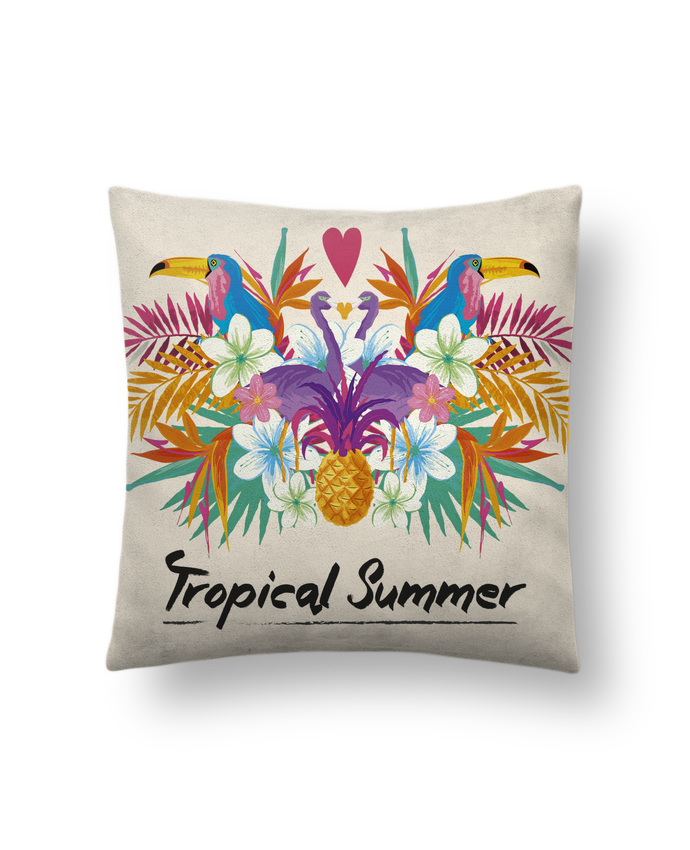 Cushion suede touch 45 x 45 cm Tropical Summer by IDÉ