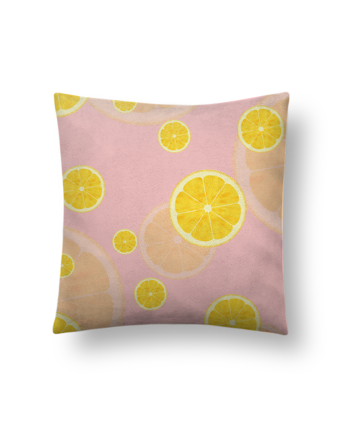 Cushion suede touch 45 x 45 cm Lemon juice by tunetoo