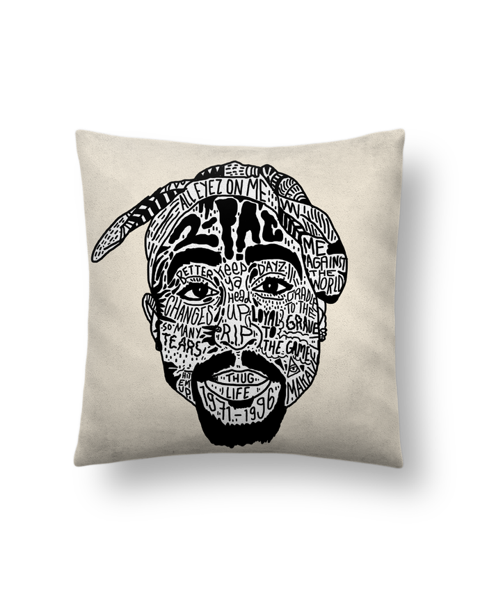 Cushion suede touch 45 x 45 cm Tupac by Nick cocozza