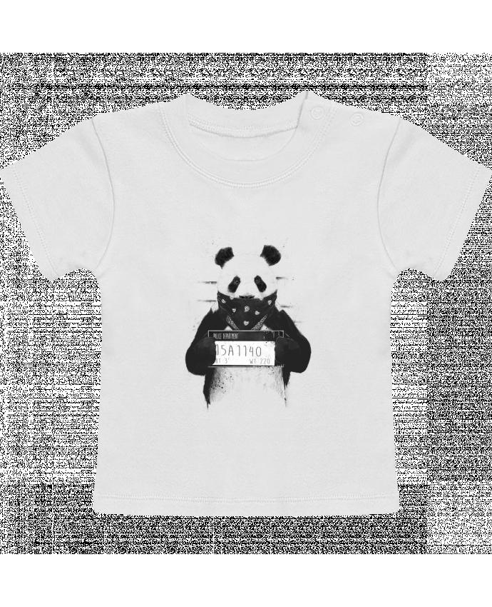 T-Shirt Baby Short Sleeve Bad panda manches courtes du designer Balàzs Solti
