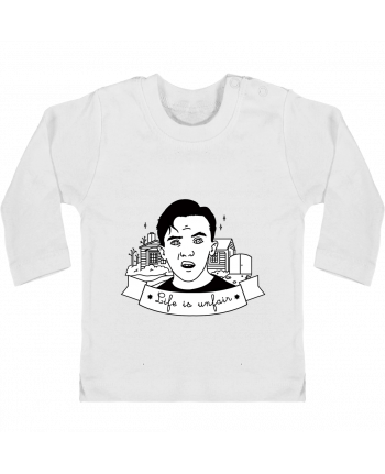 Baby T-shirt with press-studs long sleeve Malcolm in the middle manches longues du designer tattooanshort