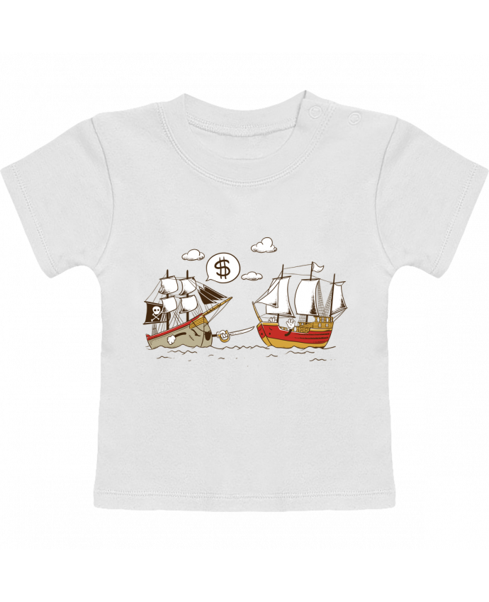 T-Shirt Baby Short Sleeve Pirate manches courtes du designer flyingmouse365