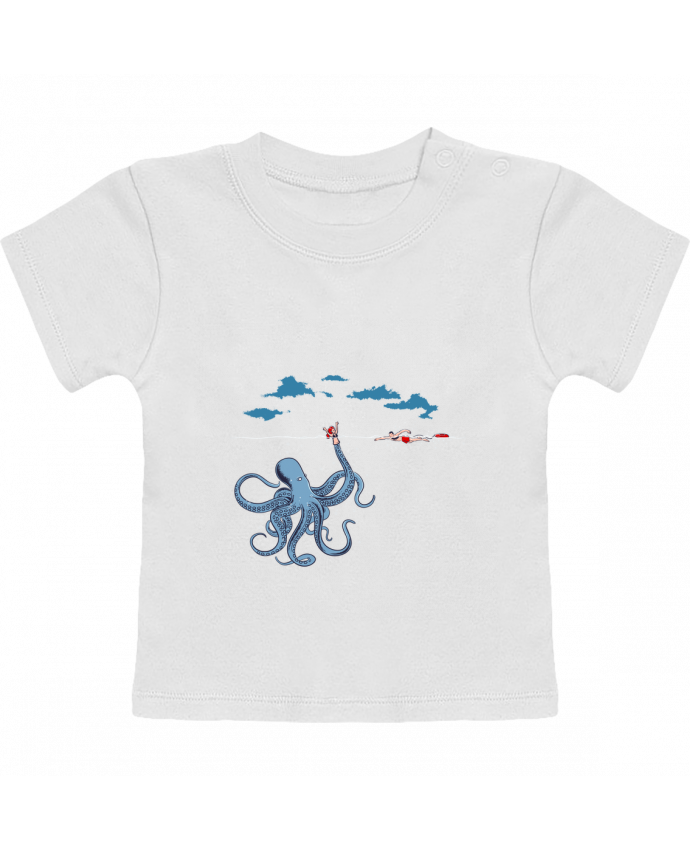 T-Shirt Baby Short Sleeve Octo Trap manches courtes du designer flyingmouse365