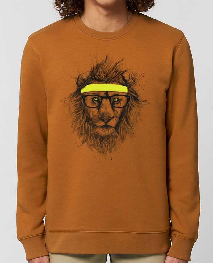 Unisex Crew Neck Sweatshirt 350G/M² Changer Hipster Lion Par Balàzs Solti