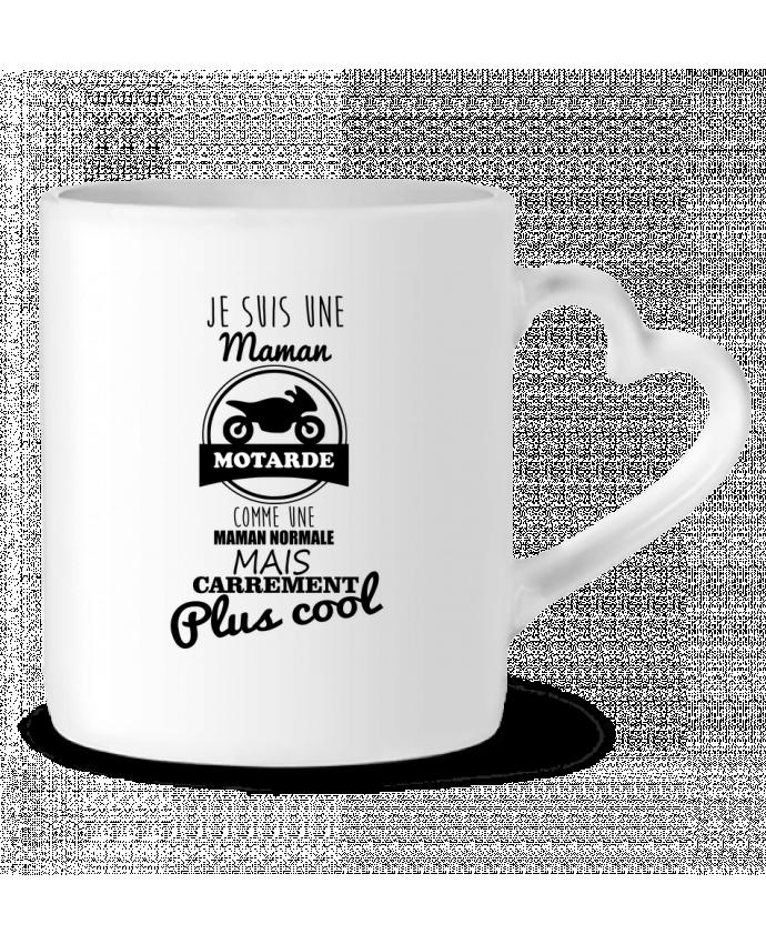 Mug Heart Maman motarde, cadeau mère, moto by Benichan