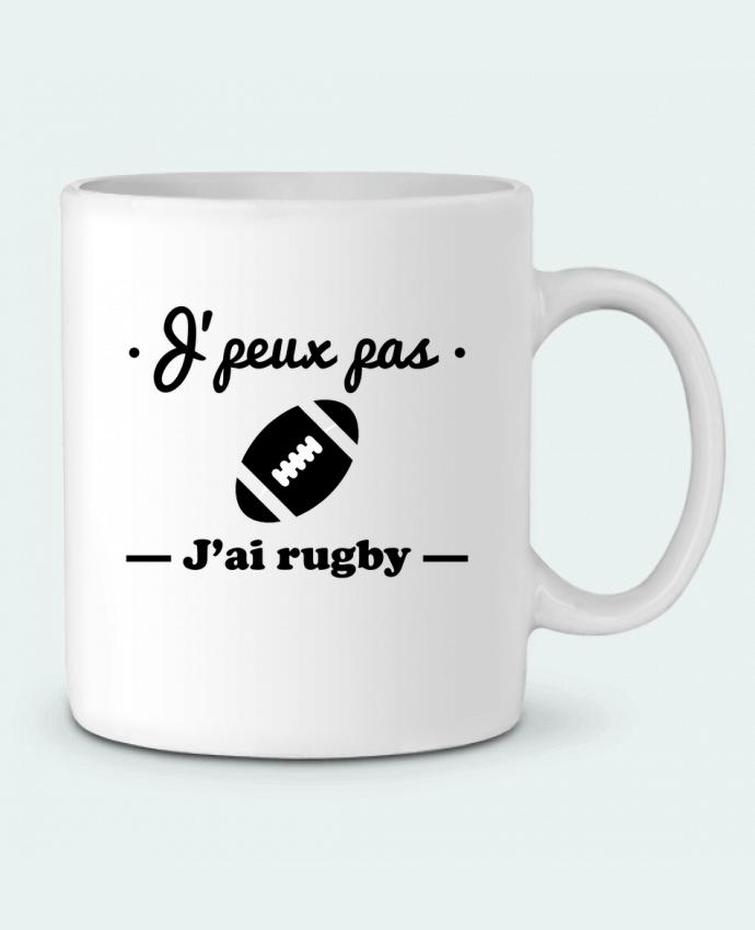 Ceramic Mug J'peux pas j'ai rugby by Benichan