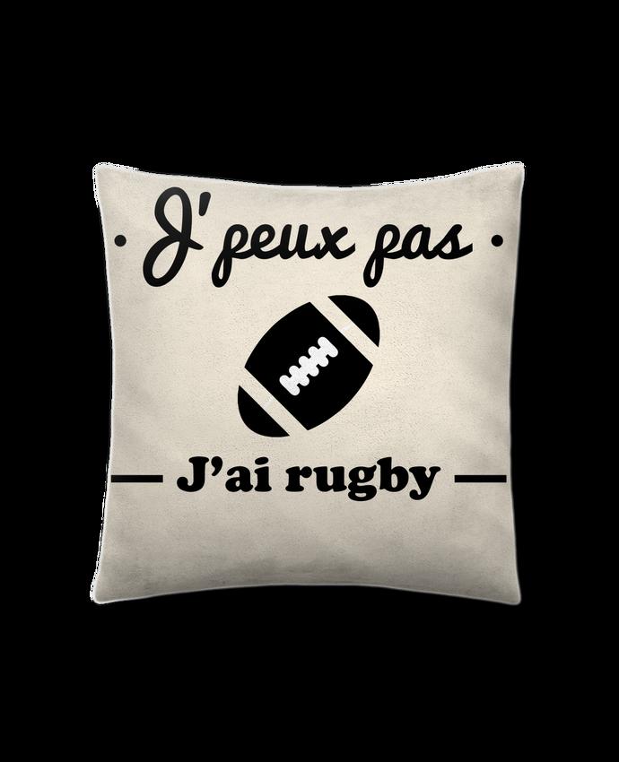 Cushion suede touch 45 x 45 cm J'peux pas j'ai rugby by Benichan