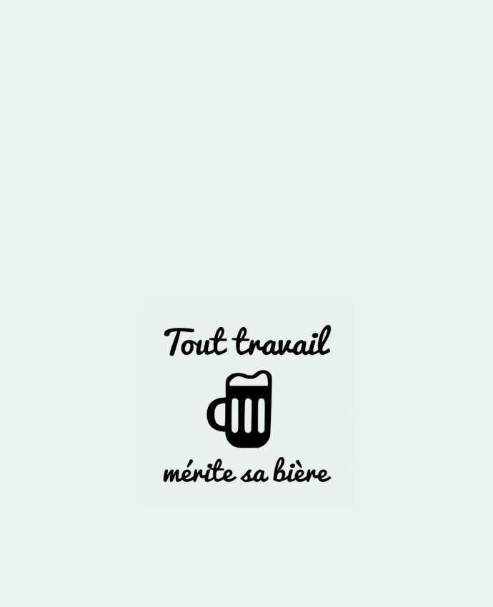 Tote Bag cotton Tout travail mérite sa bière, humour, citations by Benichan