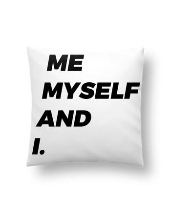 Cushion synthetic soft 45 x 45 cm me myself and i. by tunetoo