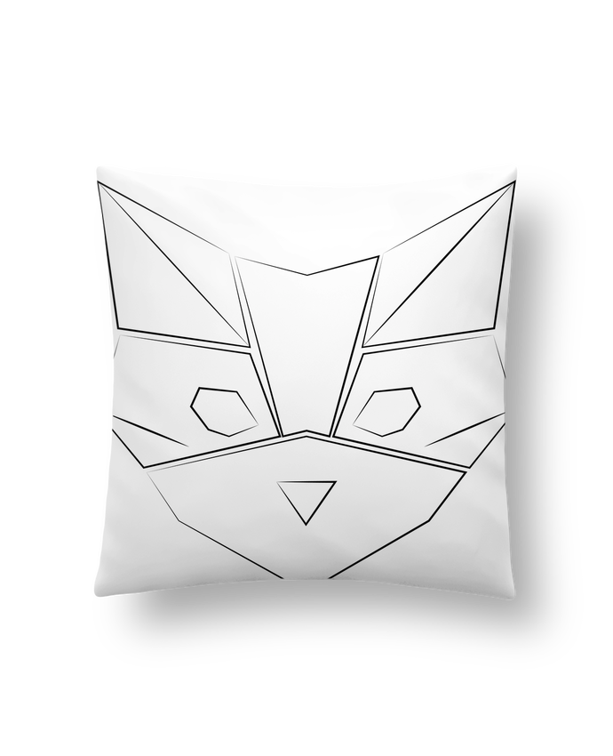 Cushion synthetic soft 45 x 45 cm Logo chat by Claire