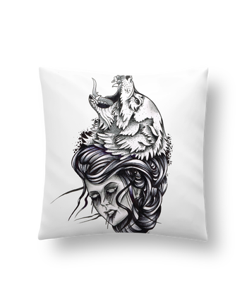 Cushion synthetic soft 45 x 45 cm Femme & Loup by david