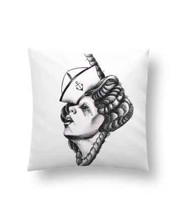Cushion synthetic soft 45 x 45 cm Femme capitaine by david