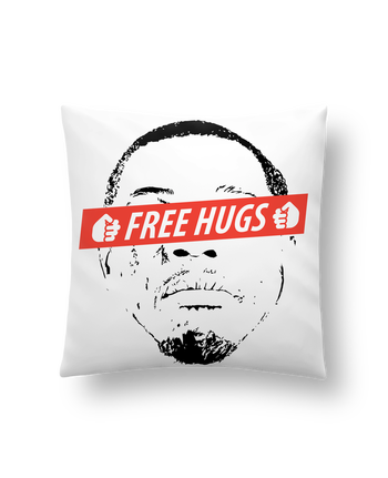 Cushion synthetic soft 45 x 45 cm Free Hugs by tunetoo