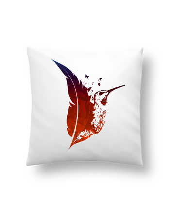 Cushion synthetic soft 45 x 45 cm plume colibri by Studiolupi