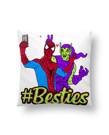 Cushion synthetic soft 45 x 45 cm #Besties Spiderman by Nick cocozza