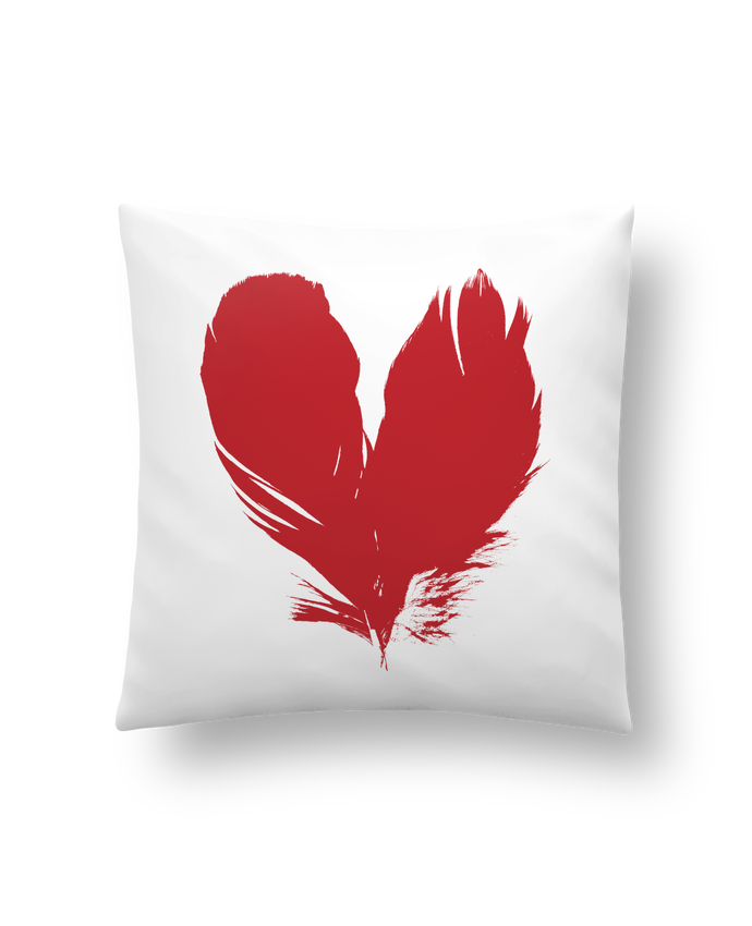 Cushion synthetic soft 45 x 45 cm coeur de plumes by Studiolupi