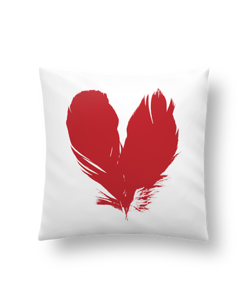 Cushion synthetic soft 45 x 45 cm coeur de plumes by Studiolupi