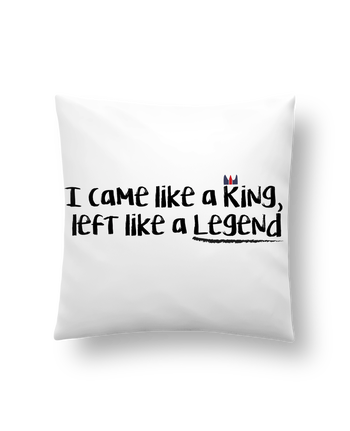 Cushion synthetic soft 45 x 45 cm I came like a king by tunetoo