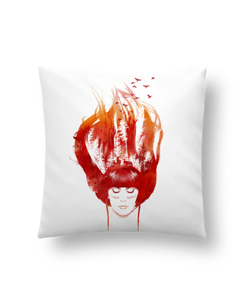 Cushion synthetic soft 45 x 45 cm Burning forest by robertfarkas