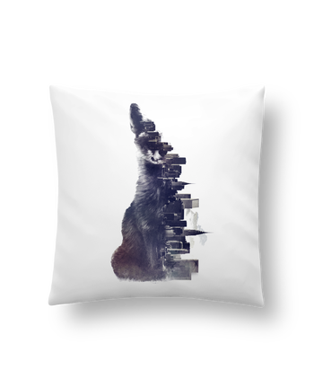 Cushion synthetic soft 45 x 45 cm Fox from the city by robertfarkas