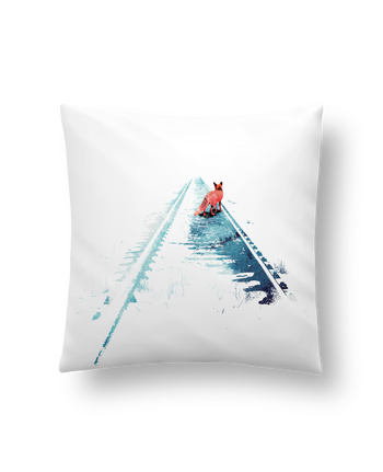 Cushion synthetic soft 45 x 45 cm From nowhere to nowhere by robertfarkas