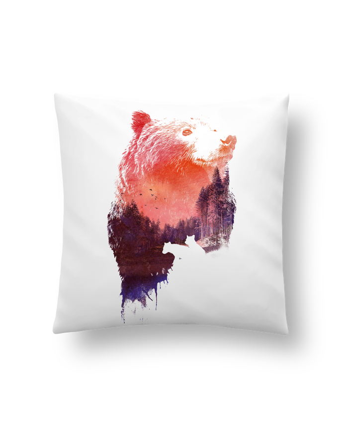 Cushion synthetic soft 45 x 45 cm Love forever by robertfarkas