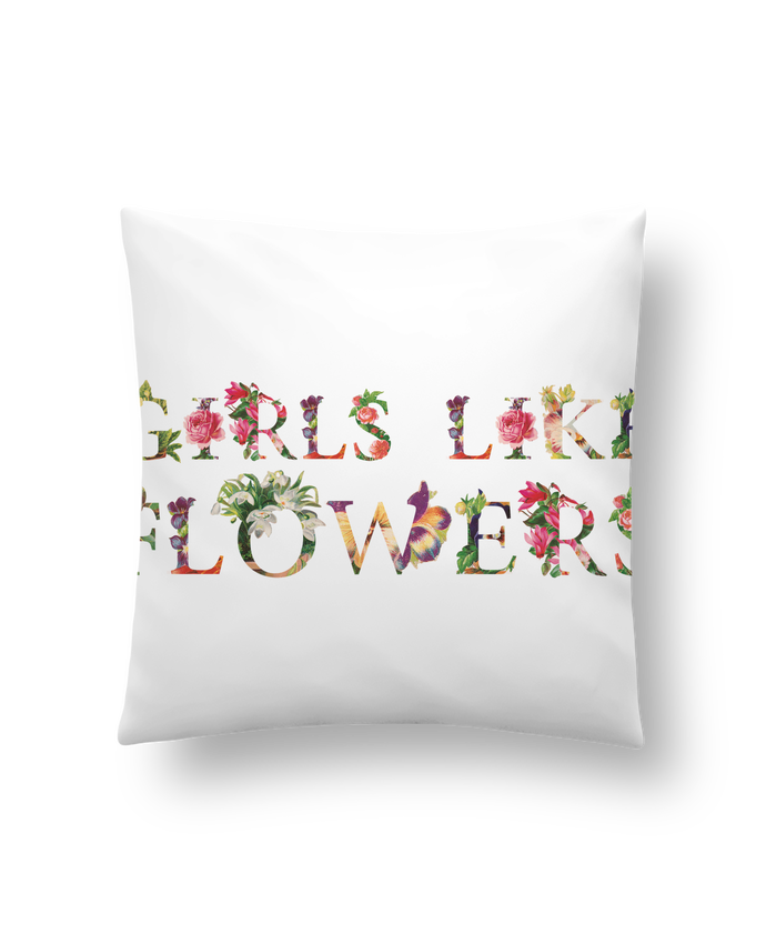 Cushion synthetic soft 45 x 45 cm Girls like flowers by tunetoo