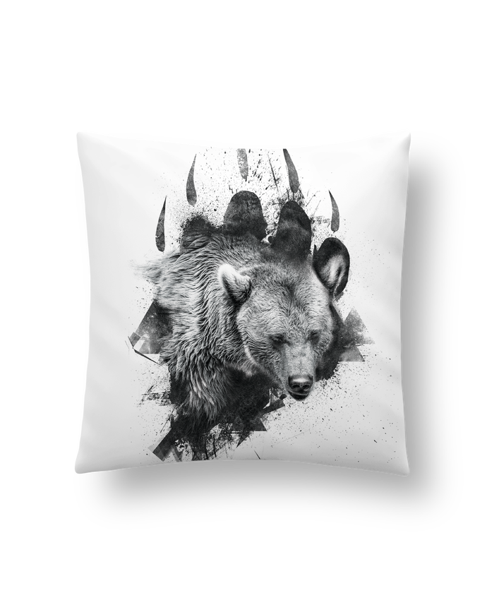 Cushion synthetic soft 45 x 45 cm Bear footprint by WZKdesign