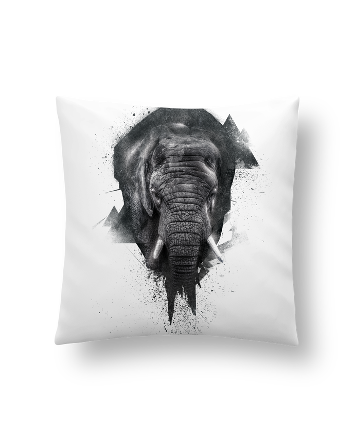 Cushion synthetic soft 45 x 45 cm elephant footprint by WZKdesign