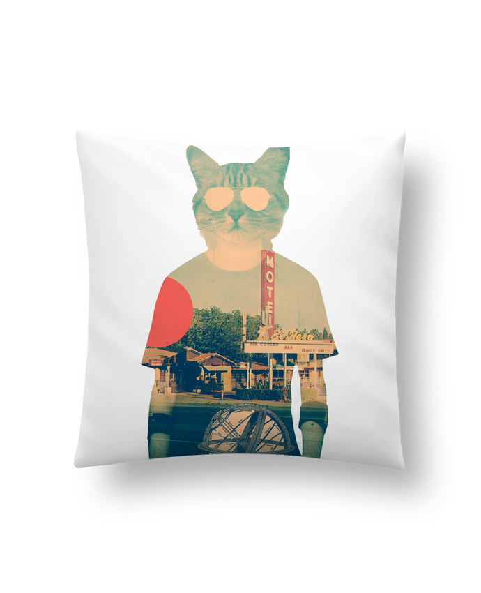 Cushion synthetic soft 45 x 45 cm Cool cat by ali_gulec