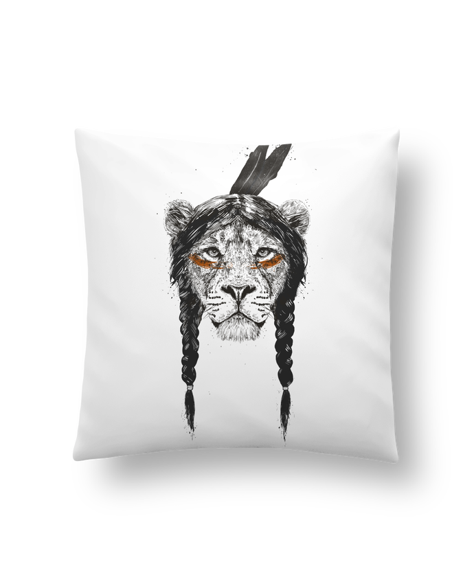 Cushion synthetic soft 45 x 45 cm warrior_lion by Balàzs Solti