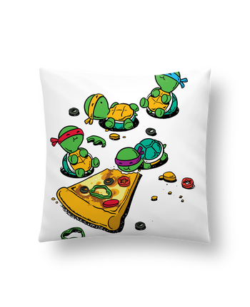 Cushion synthetic soft 45 x 45 cm Pizza lover by flyingmouse365