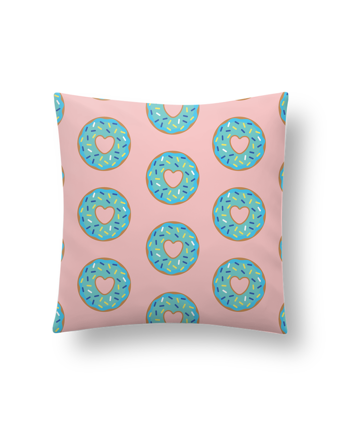 Cushion synthetic soft 45 x 45 cm Donut coeur by tunetoo