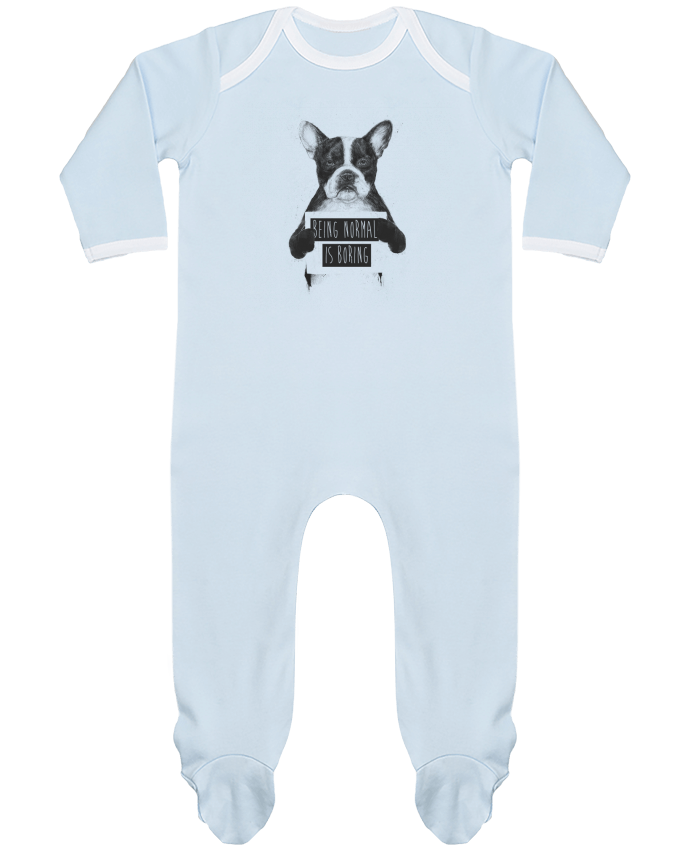 Baby Sleeper long sleeves Contrast Being normal is boring by Balàzs Solti