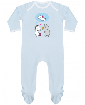 Baby Sleeper long sleeves Contrast Perfect match by flyingmouse365