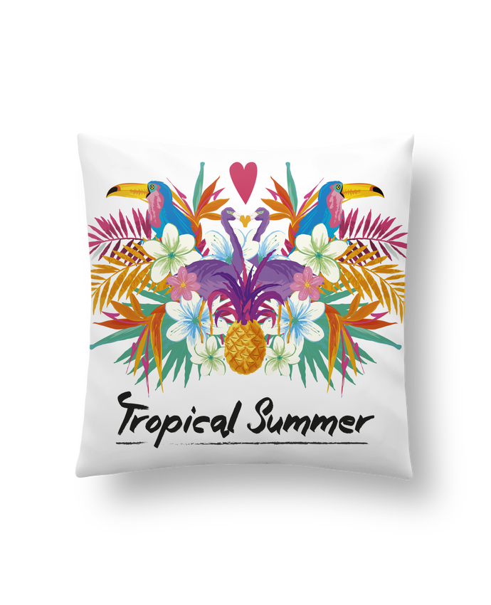 Cushion synthetic soft 45 x 45 cm Tropical Summer by IDÉ