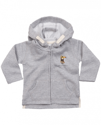 Hoddie with zip for baby TOUCAN by La Paloma