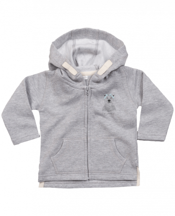 Hoddie with zip for baby we_can_do_it by Balàzs Solti