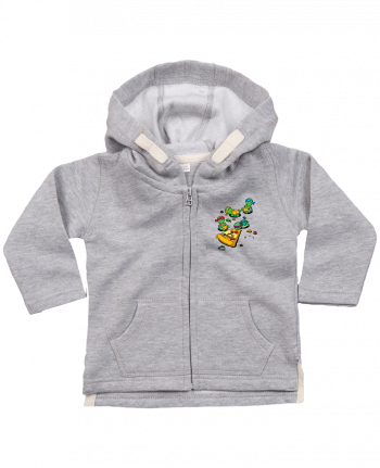 Hoddie with zip for baby Pizza lover by flyingmouse365