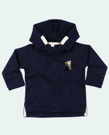 Hoddie with zip for baby Metal Factory by flyingmouse365