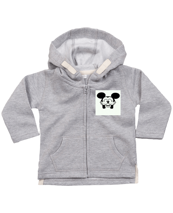 Hoddie with zip for baby Vetement mickey doigt d'honneur by Designer_TUNETOO