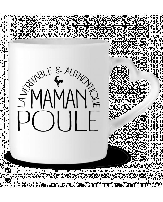 Mug Heart Maman Poule by Freeyourshirt.com