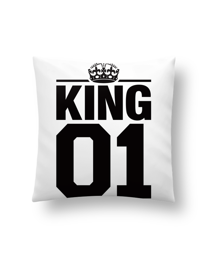 Cushion synthetic soft 45 x 45 cm King 01 by Freeyourshirt.com