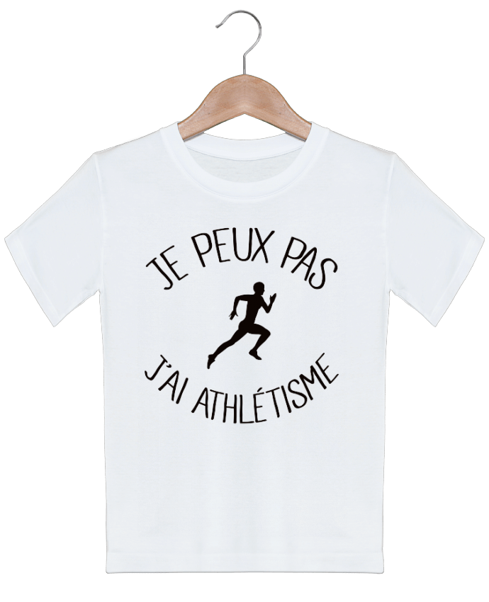 T-shirt garçon motif Je peux pas j'ai Athlétisme Freeyourshirt.com
