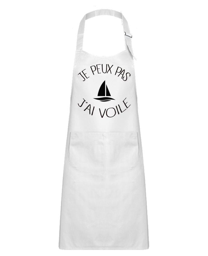 Kids chef pocket apron Je peux pas j'ai voile by Freeyourshirt.com